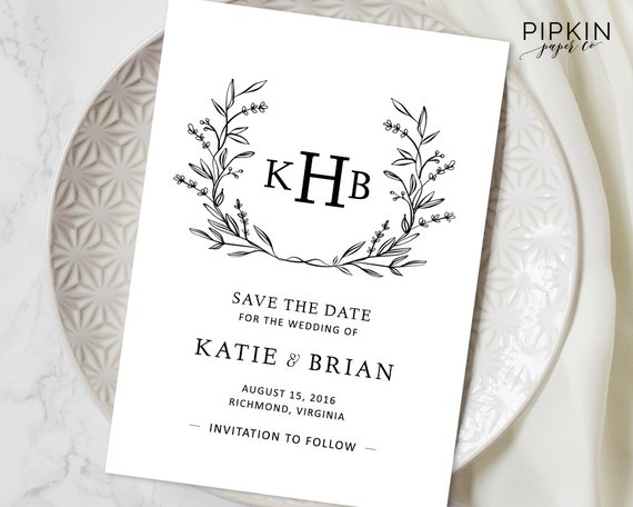 Printable save the date template digital download for word for Electronic save the date templates