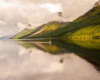 Sailboat in Scottish Highlands