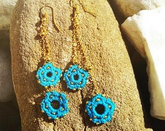 Fiorellini (#02) Earrings - Turquoise