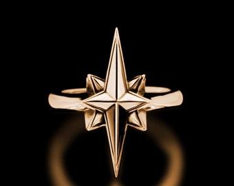 North Star Ring Brass Stars Astrology