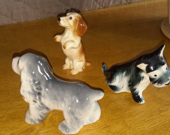 Three Vintage Dog Figurines