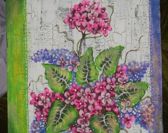 Pink Blossoms Painting