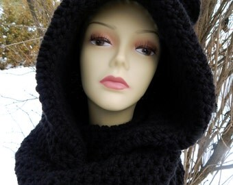 Infinity scarf with hood