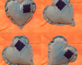 Handmade Tatty Heart Pillow