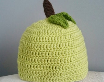 Green Apple Baby Girl / Boy Hat - Age 3-6 Months. Baby hat, Green hat, Baby gift.