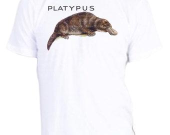 Platypus Shirt, Men's Organic Tshirt, New Zealand, funny wildlife, great vintage animal tee, t-shirt, tee, custom size, acmekidco