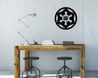 Star Wars Clock, Wall Decal, Wall Decor, Star Wars Imperial, Home Decor, Nerd Gifts