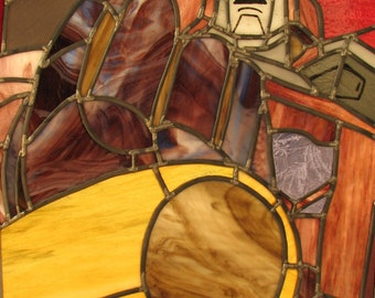 Transformers Galvatron Leaded Stained Glass