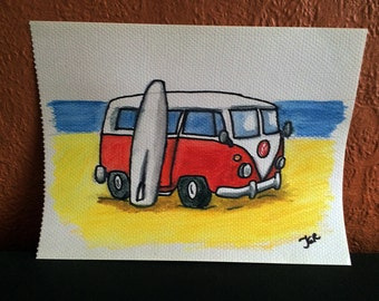 Commissioned Beach/Camper Van Pictures