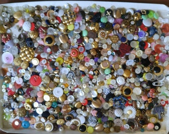 Large vintage button lot interesting some sets sold as shown hundreds