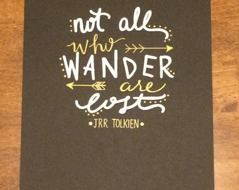 JRR Tolkien Hand- Lettered Quote