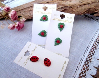 Ladybugs   Buttons  Red  Buttons  Baby Buttons - set of 6.