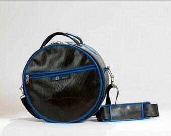 """Shoulder Bag - Messenger Bag - Camera Bag - """"Wheel Bag"""" up-cycled made of inner tube."""