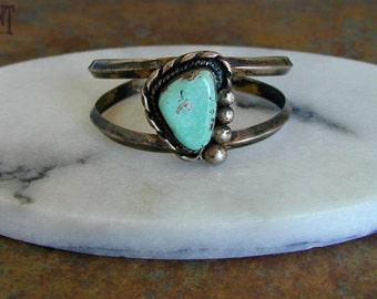 Vintage Native Turquoise Cuff Bracelet