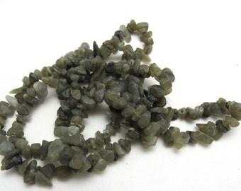"1 Strand Natural Labradorite Chip Beads 34"" (B19)"