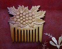 Wooden comb Hair accessories  Wood carving Magic Witchcraft Gift woman Natural Wood comb