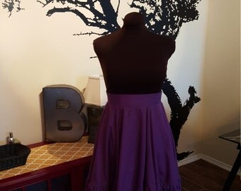 1950s full purple skirt,  size large