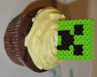 Minecraft cupcake/cake toppers - Set of 10