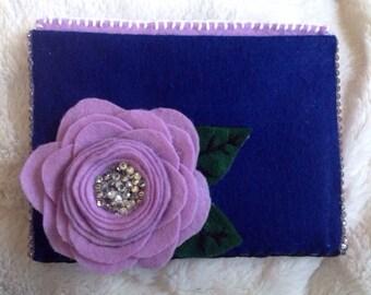 Hand-Made Felt Flower Wallet