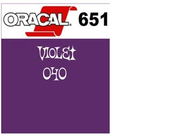 Oracal 651 Vinyl Violet (040) Adhesive Vinyl - Craft Vinyl - Outdoor Vinyl - Vinyl Sheets - Oracle 651
