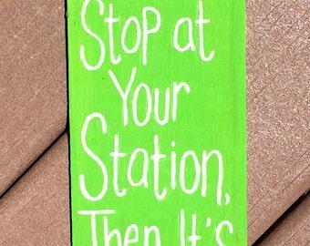 Train Handpainted Sign
