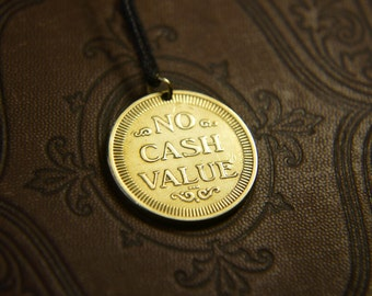 No cash value necklace. Coin pendant. Сoin jewelry. Mas no cash value. USA token