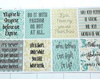 Inspirational Quotes Planner Stickers- Full Box Stickers - Functional Sticker set - Motivational Stickers - Erin Condren Life Planner