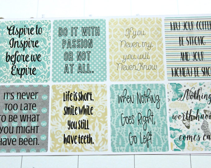 Inspirational Quotes Planner Stickers- Full Box Stickers - Functional Sticker set - Motivational Stickers - Erin Condren Life Planner