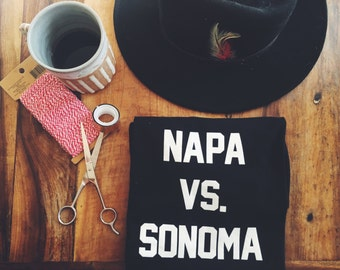 Napa vs. Sonoma T-Shirt (Black)