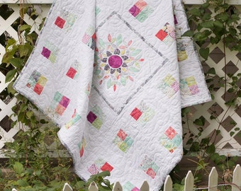 Handmade Cotton Baby Quilt 48x48