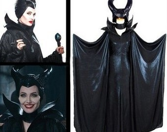Maleficent Sleeping Beauty Cosplay Black Withch cosplay Costume--Made to Customers Sizes