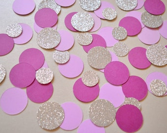 Wedding Confetti Birthday Party Decor Confetti Circle Table Confetti Party Decorations Purple Pink and Silver Confetti Mix Party Table Decor