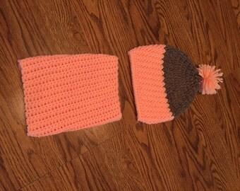 Crochet Infant hat and chili Charlie set