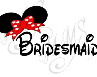 Bridesmaid Groom Wedding Mickey Mouse Head Disney Family Download Iron On Craft Digital Disney Cruise Line Magnet Shirts
