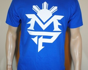 Manny Pacquiao T shirt Mens MP Blue Tee Last Fight