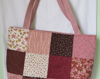 Pink Patchwork Tote