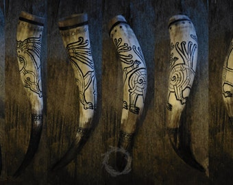 Ringerike style drinking horn.