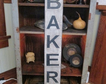 "Distressed Vintage Hand Painted ""BAKERY"" sign (SOLD)"