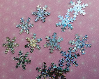 Christmas Sequins, Christmas Embellishments, Sewing Sequins, Snowflake Sequins, Sequin Packs, Large Sequins, Silver Sequins, Sequin Supplies