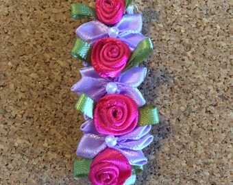 Lilac and Rosette Clip