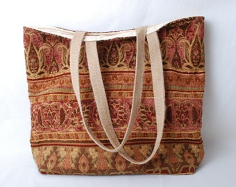Tapestry Fabric Purse or Tote Bag