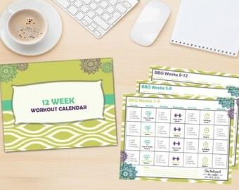 BBG Workout Calendar (Printable)