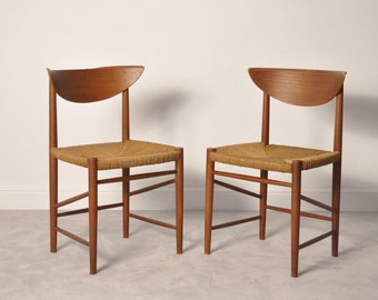 Peter Hvidt and Orla Mølgaard-Nielsen teak  chairs,1955s