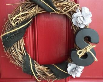 Simply monogram wreath