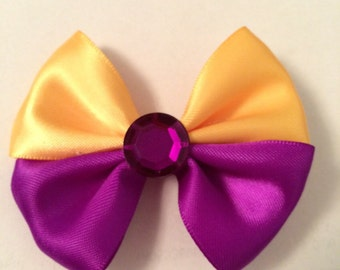 Yellow and Purple barrette