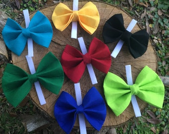 Pet Bow Ties - Dog Bow Ties - Velcro Dog Bow Ties - Interchangeable Pet Bow Ties