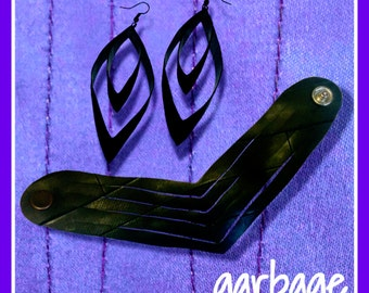 Arrow Set: Recycled Cuff and Earrings