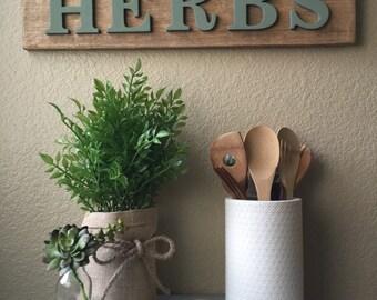 Fresh Herbs decor sign