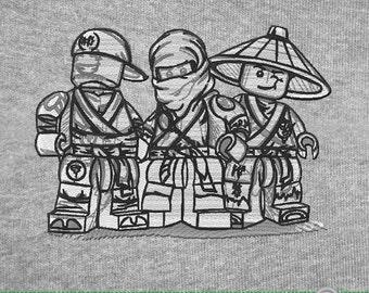 Lego Ninjago Heroes Embroidery Design Digital Download