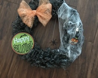 Mesh Halloween Wreath